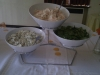 Fresh salads made on the day