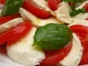 Mozarella cheese with fresh tomatoes, basil  olive oil